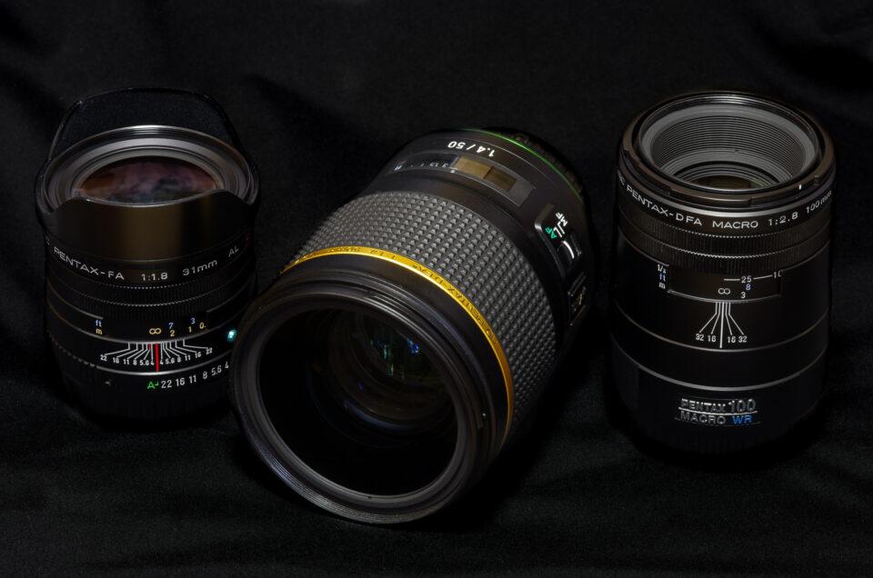 FA31mmとDFA★50mmとDFA100mmマクロ