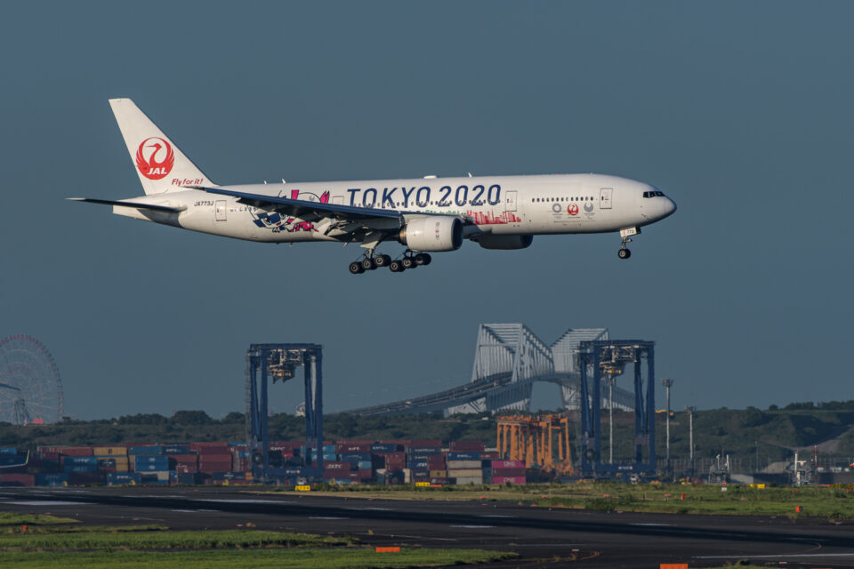 JAL B777-200 TOKYO2020ラッピング