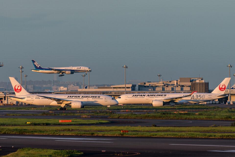 ANA B777とJAL B787とJAL A350
