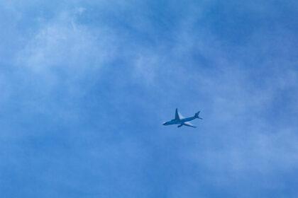 上空を飛行するA330