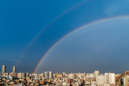 二重の虹(左半分)