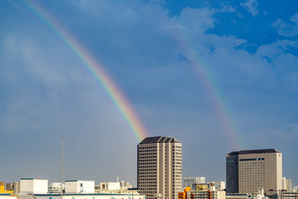 二重の虹(右半分)