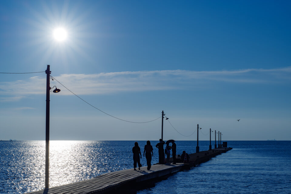 午後の原岡桟橋
