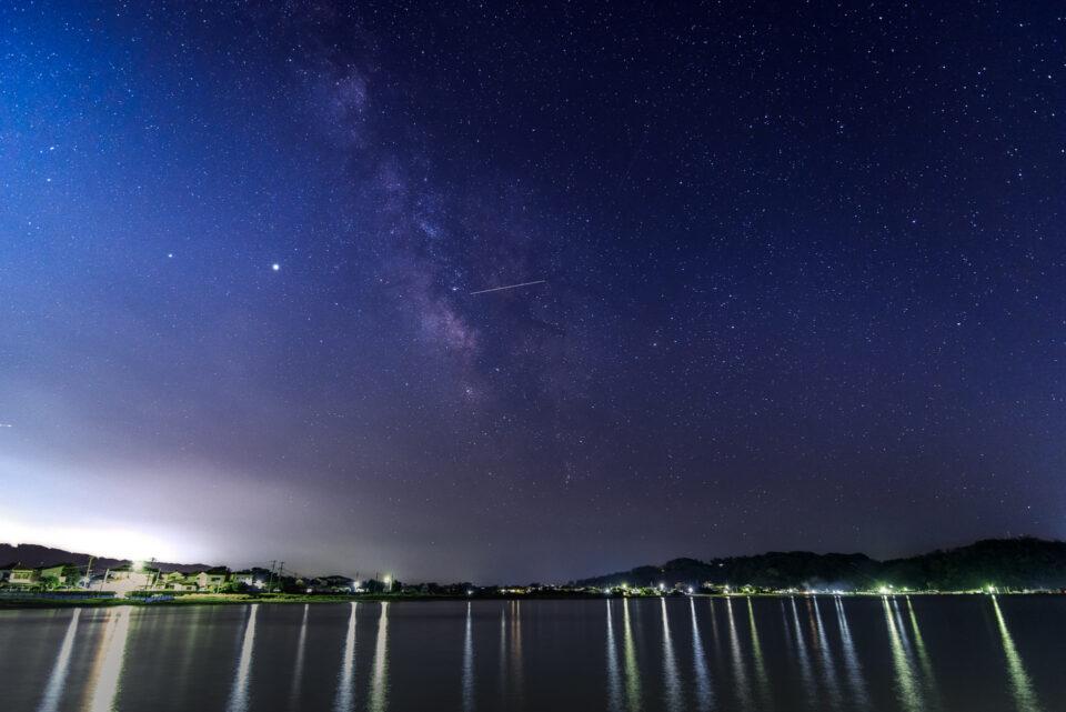 原岡桟橋から見る天の川