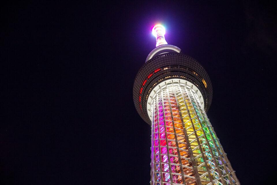 輝くゲイン塔の先端