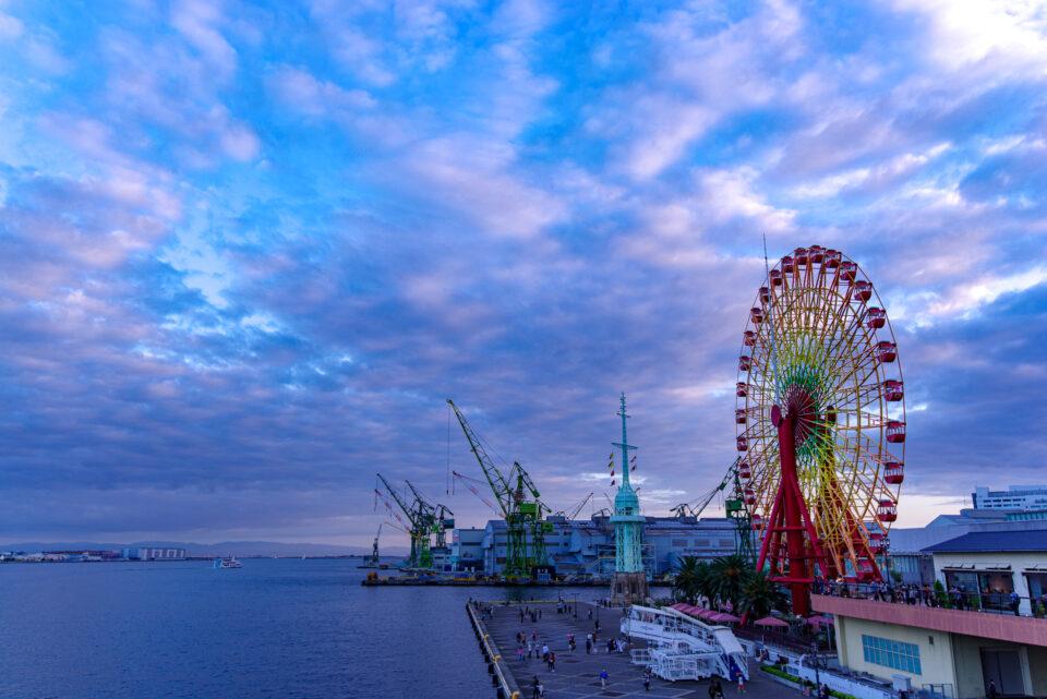 神戸港トワイライトクルーズ出港
