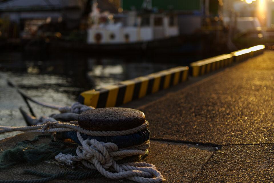 港のボラード