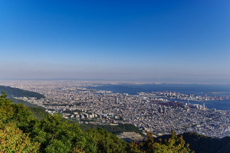 摩耶山 掬星台から大阪方面の眺め