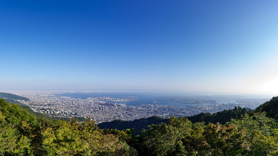 摩耶山 掬星台からの眺めパノラマ