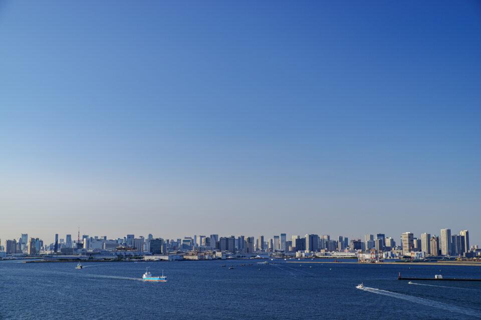 東京ゲートブリッジから都心を一望