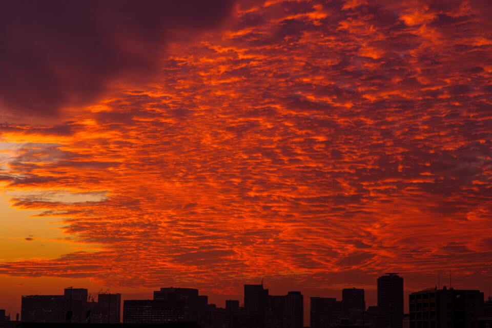 一面焼ける秋の雲