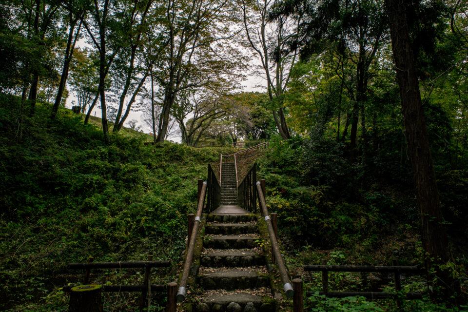 鉢形城の階段