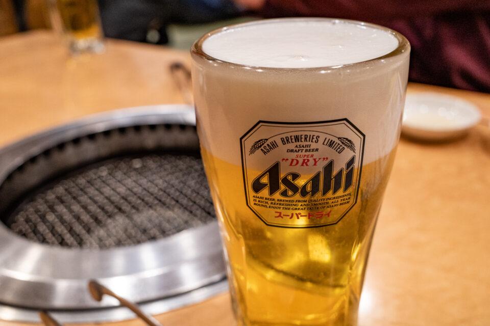 アサヒの生ビール