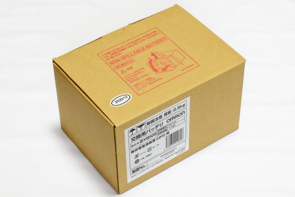OMRON UPS用電池 BYB50Sの箱