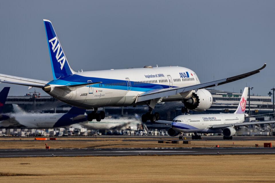 成田の34Lに着陸する