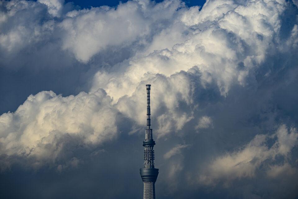 積乱雲と東京スカイツリー カラー