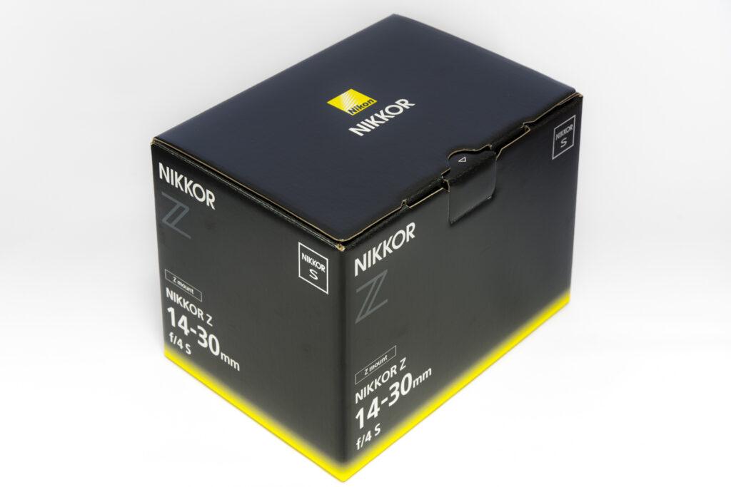 NIKKOR Z14-30mm f/4 S の箱