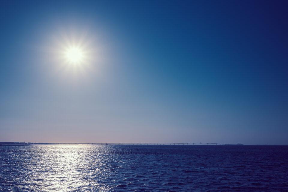 袖ケ浦から眺める東京湾