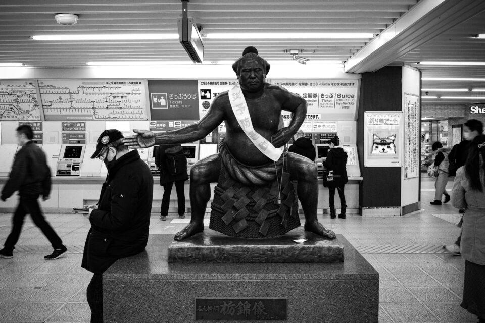 JR小岩駅の栃錦像