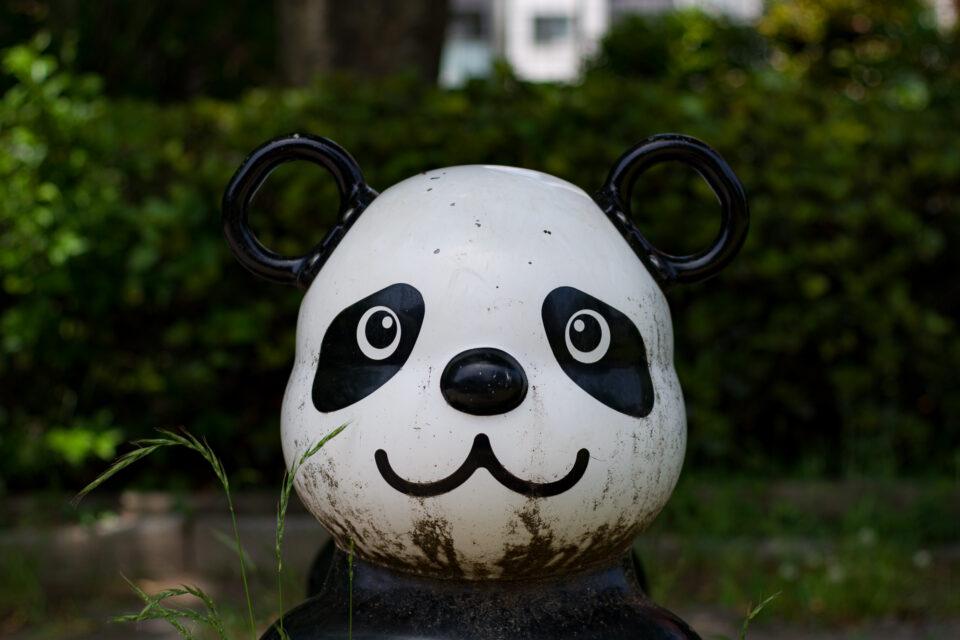 パンダの遊具の顔