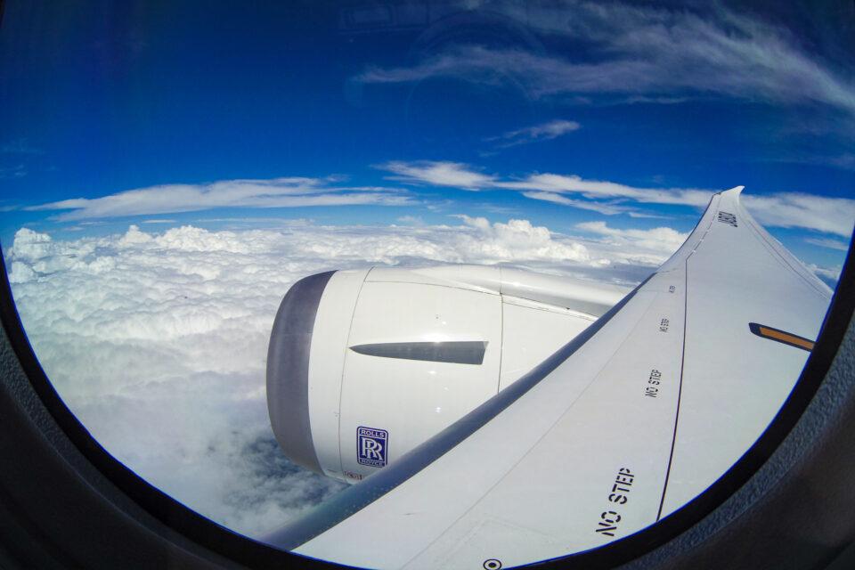 B787の機窓