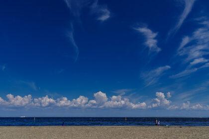 城南島海浜公園の砂浜