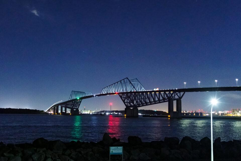 ライトアップなしの東京ゲートブリッジ