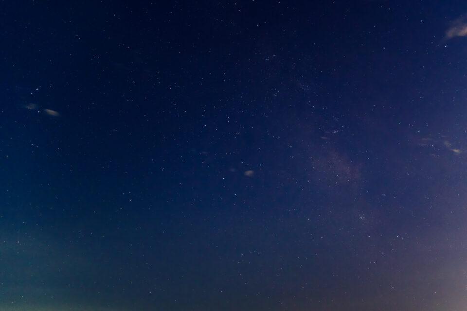 東京湾で撮った天の川