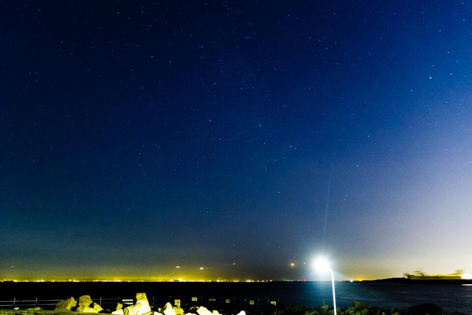 東京湾の星空