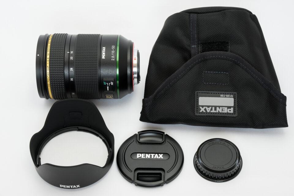 HD PENTAX-DA★16-50mmF2.8ED PLM AW 同梱品
