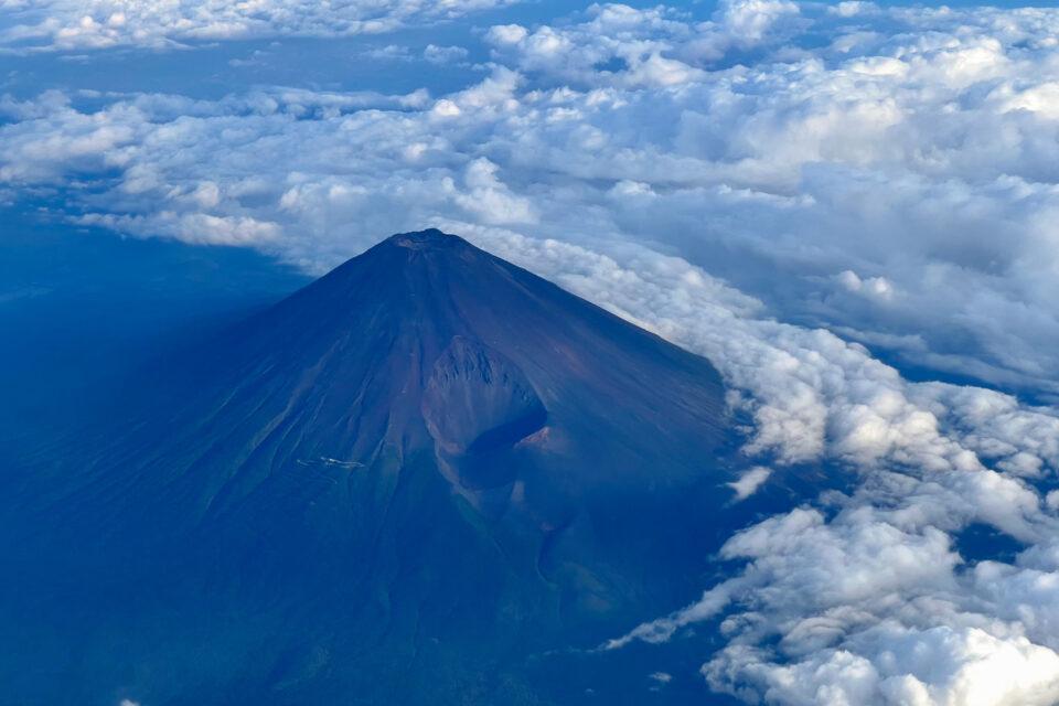 空から富士山(iPhone 13 Pro Maxで撮影)