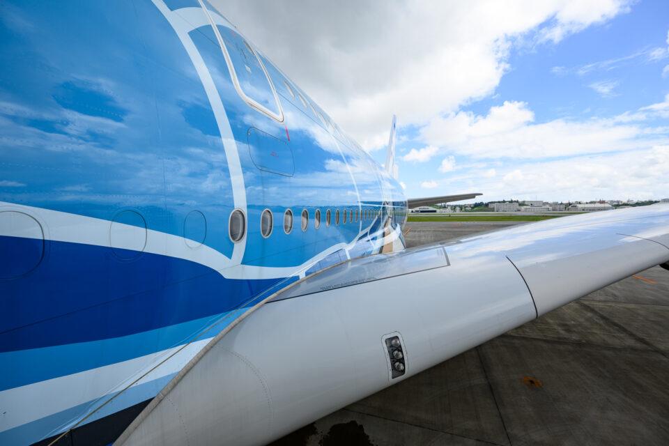 A380搭乗口から